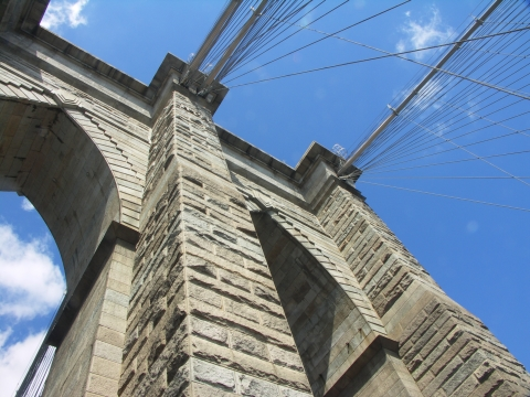 NY-Brooklyn Bridge on Labor Day 2006