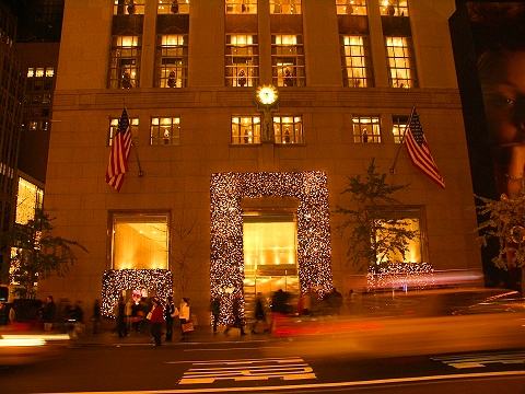 NY- 5th Avenue Christmas shoppers