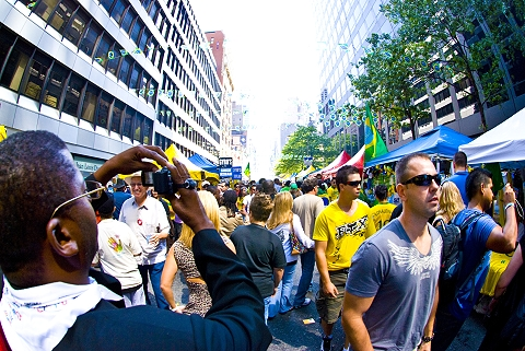Was packed today for the brazilian days in new york 2009 festival