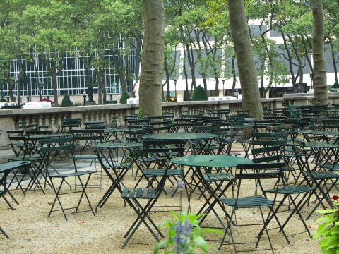 NY- Bryant Park Grill- Set Up for Fashion Week- September 2006