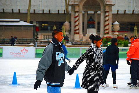 NY- Ice Skating at Bryant Park