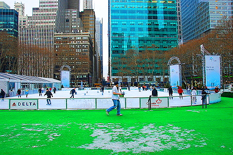 NY- Ice Skating at Bryant Park