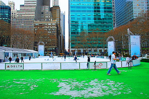 NY- Ice Skating at Bryant Park- Celsius: A Canadian Lounge