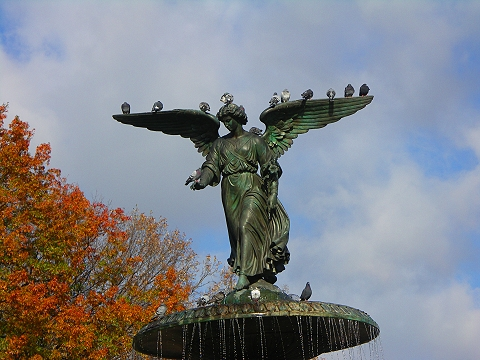 NY- Central Park Angel, Autumn 2006