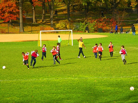NY- Cenral Park North Meadows- Autumn Colors- West Side Soccer League