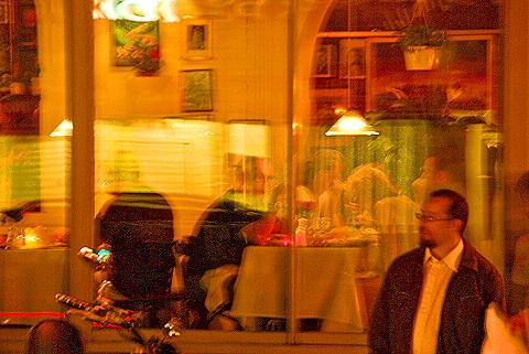 ny columbus avenue nightshots windows and storefronts