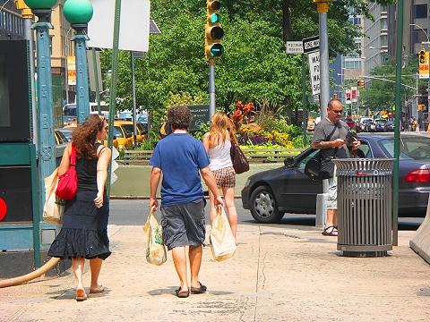NY- Columbus Circle Fountain Park