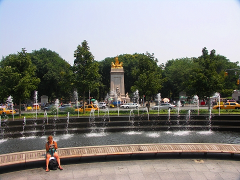 NY- Columbus Circle Fountain Park