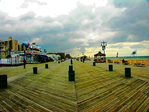 NY- Coney Island Boardwalk and Amusements