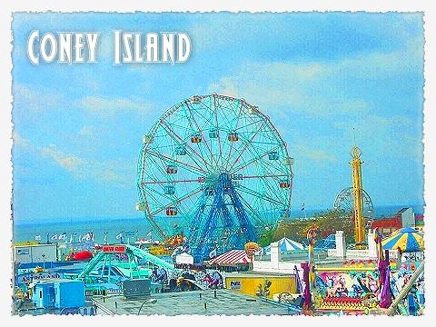 NY- Coney Island Postcards