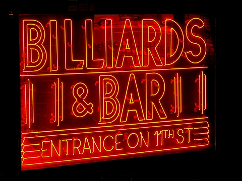 billiards wallpapers. NY- East Village- Amsterdam Billiards Neon Sign