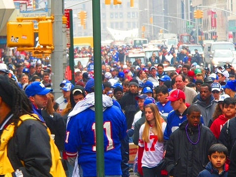 NY-Giants Victory Party Downtown