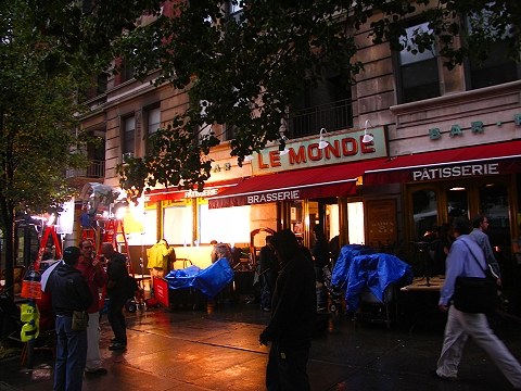 NY- Cahmere Mafia shoot inside of Le Monde Restaurant