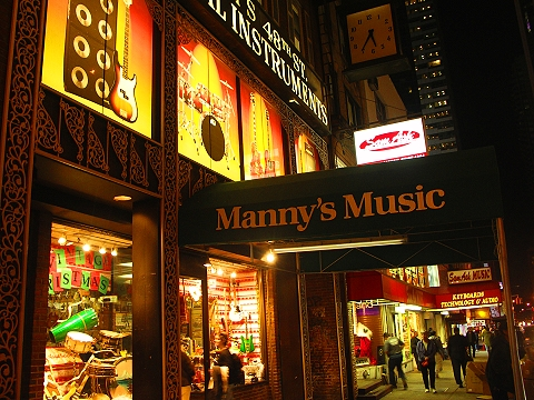 NY- Manny's Music- 48th between 6th and 7th Avenues