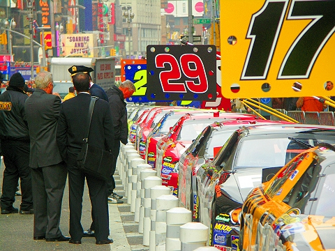 NY- Nascar in Times Square, 42nd and Broadway