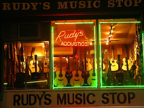 NY- Rudy's Music Stop- 48th between 6th and 7th Avenues