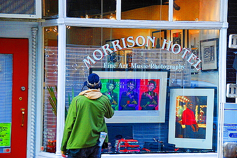 NY- Soho- Windows and Signs- Morrison Hotel