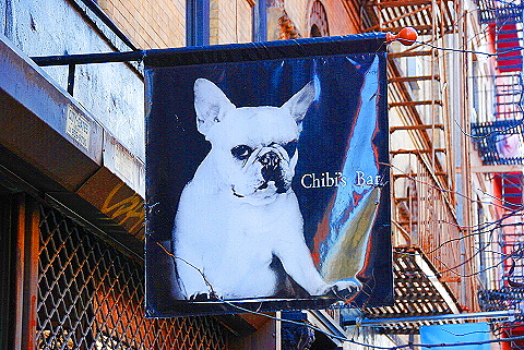 NY- Soho- Windows and Signs- Chibi's Bar