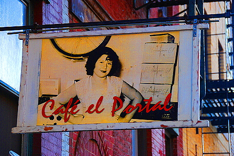 NY- Soho- Windows and Signs- Cafe el Portal