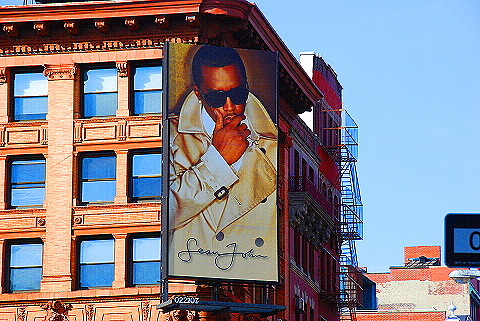 NY- Soho- Windows and Signs- Sean John