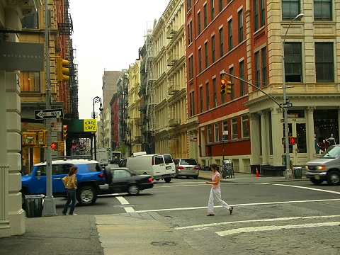 NY- Soho- Greene Street- Canal To Houston