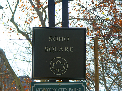 NY- Soho Square- Christmas Tree Farm