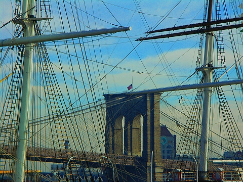 NY- South Street Seaport- East River- Brooklyn Views