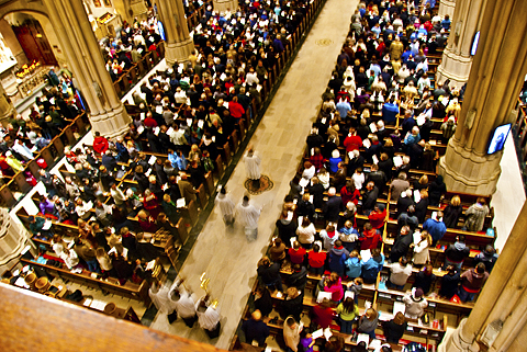 NY- Saint Patrick's Cathedral- Cardinal's Sunday Mass with the Choir