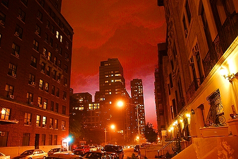 NY- Lightning Storm on West 70th- Upper Westside