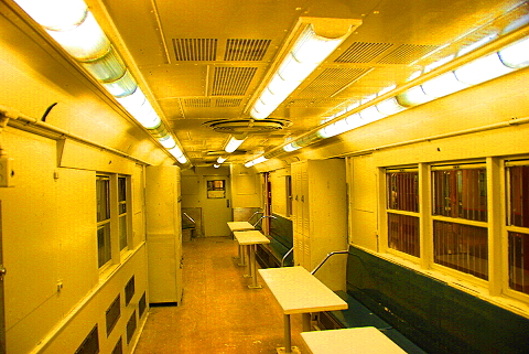 NY- Old Subway Cars at the Transit Museum
