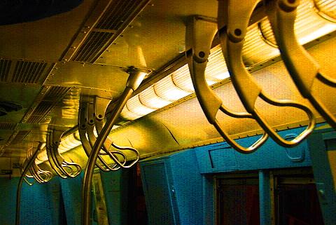 NY- Old Subway Cars at the Transit Museum