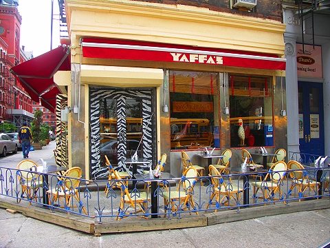 NY- Tribeca- Storefronts, Signs and Windows-Yaffa's