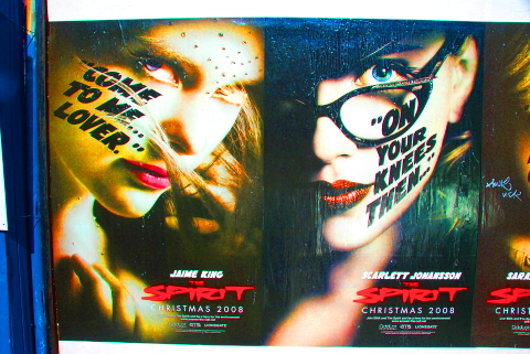 NY- Tribeca Movie Posters- The Spirit- coming Christmas 2008