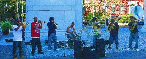 NY-Washington Sq.-Hypnotic- jazz-fusion-horns