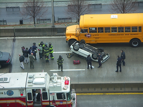 NY- Accident on the Westside Highway
