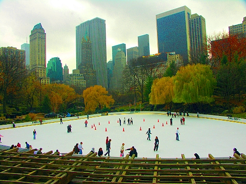 NY- Wollman Rink, Central Park, Ice Skating, Christmas